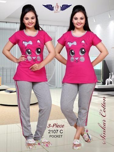 98d579dfc50 Ladies Night Suit 3 piece at Rs 400  piece