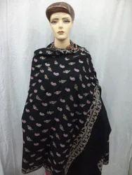Pure Pashmina with Full Hand Needle Work Paisley Shawls
