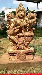 Wooden Saraswati Devi