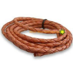 Jute Color Leather Braided Cords
