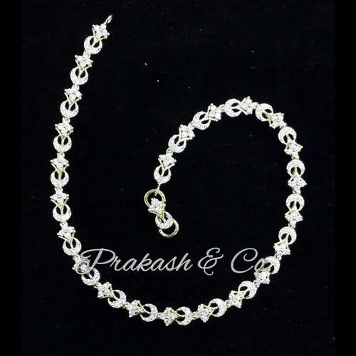 b56cb91fadf Prakash White American Diamond Fancy AD Payal