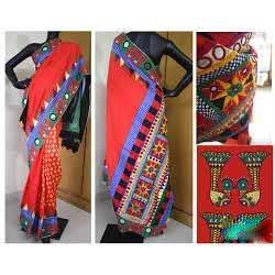 Saree Kutch Work एम ब र यडर ज ब वर क