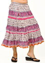 Traditional Hand Block Cotton Skirts