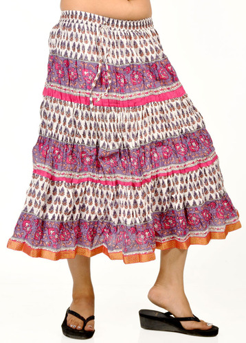 a54233bc91ff84 Traditional Hand Block Printed Cotton Skirts, Rs 390 /piece | ID ...