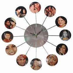 family photo frame clock