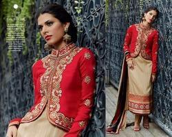 Designer Party Wear Straight Suits