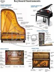 学校音乐实验室白图表,尺寸:50x65cm