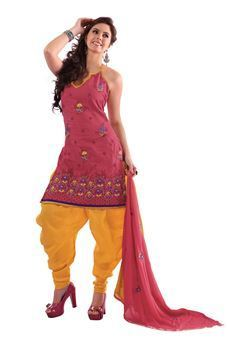 f160e0ccff Fascinating Light Pink And Bright Yellow Colour Suit at Rs 1500 ...