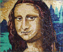 Master Hand Cut Mosaic Mona Lisa Mosaic Tile Mural