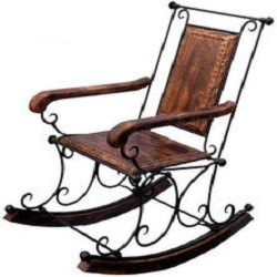 Exceptionnel Wrought Iron Rocking Chair