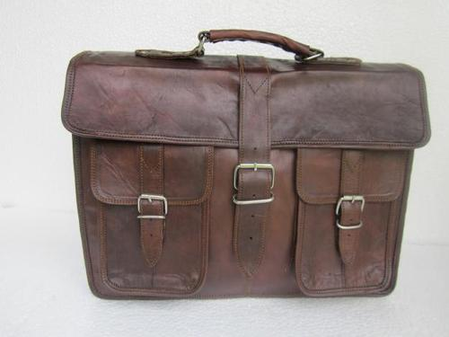 Brown Office Leather Bag