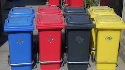 2 Wheeled Dustbin with S.S Pedal