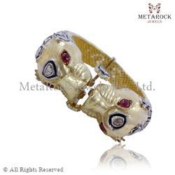 Gold Ruby Gemstone Bands Ring