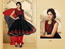 Black And Red Anarakali Suit