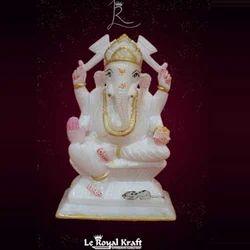 Ganesh Alabastor Statue
