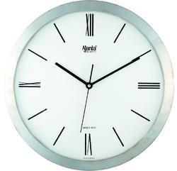 Silver Plastic Ajanta Oreva Standard Wall Clocks, Size: 306x43.8x306