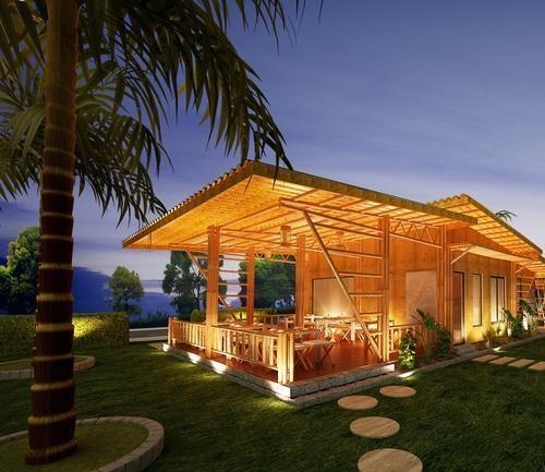 Bamboo Restaurant बम्बू हट्स बांस की झोपड़ियां Furn