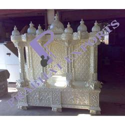 Wooden Temple Silver Coating