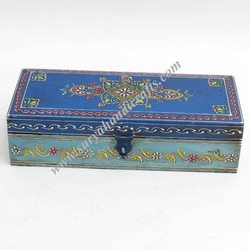 Wooden Box With Blue Color