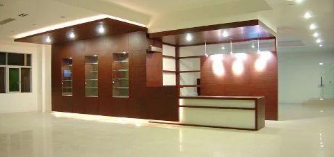 reception office interior designing in shivalik new delhi the
