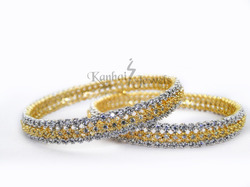 Gold Plated Diamond Bangles