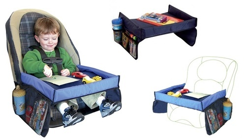 Kawachi 2 In 1 Kids Play And Snacks Tray For Home, Car And Travel