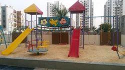 Yellow And Red Kids Playground Slide