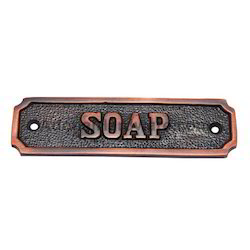 Soap Brass Sign
