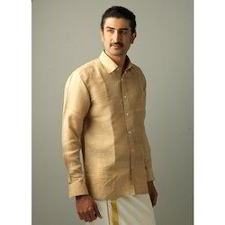 Dull Golden Silk Shirt