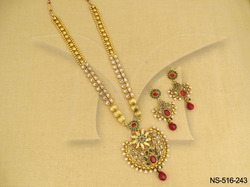 Ruby Green Long Necklace