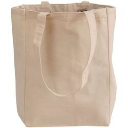 Norquest Brands Self 100% Cotton Canvas Box Tote Bag, Size: 10.25 X 14 + 5 Ag