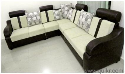 On Choice As Per Requirement Corner Half Round L Sofa Set