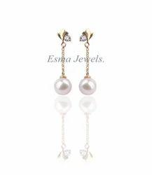 Designer Long Pearl Earring