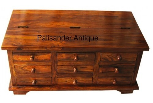 Palisander Antique Coffee Table With Storage
