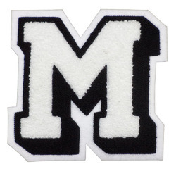 letter jacket patches chenille amp embroidery patch colored staggered chenille 22892