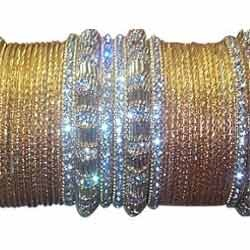 yellow designer lac bangles