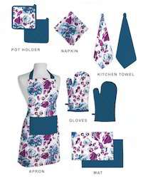 Floral Pattern Design Kitchen Linen Set