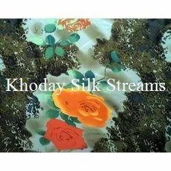 Flower Printed Silk Fabric