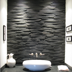 Black Slate 3D Wall Mosaic Tiles