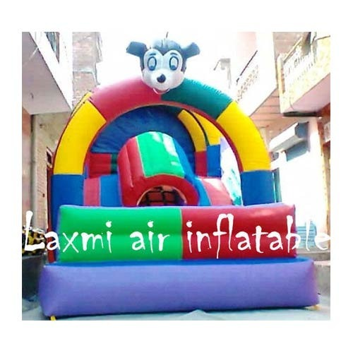 Laxmi Air Inflatable Nylon Plastic Inflatable Slide, Age Group: 4 - 12 Years, For Outdoor, Garden