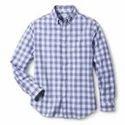 Men's Blue Check Long Sleeve