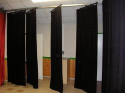 auditorium motorized stage curtain wings