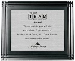 Best Team Award Ceremony Momento