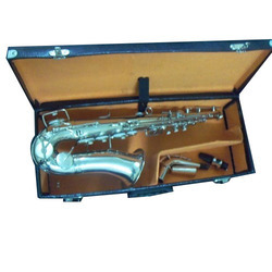 Silver Saxophone Musical Instrument