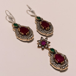 Fancy Design Turkish Earrings Set
