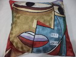 Red Cotton Picasso Handmade Cushion Covers, Size: 45x45 Cms