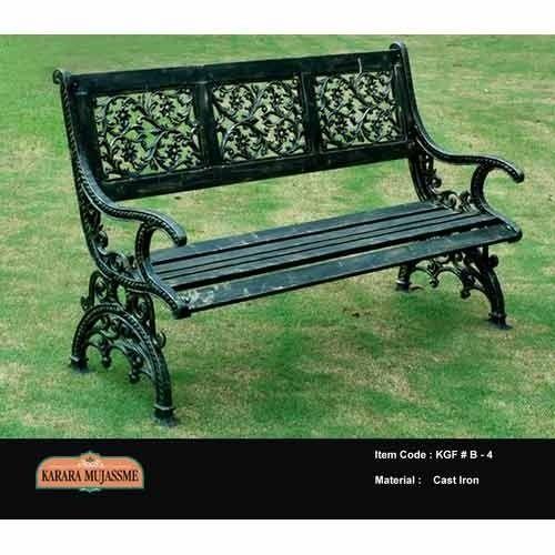 Antique Victorian Cast Iron Garden Bench Set