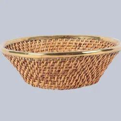 Round Deep Flat Cane Bowl