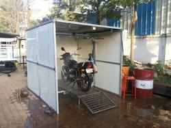2 Wheeler Semi Automatic Washing Booth