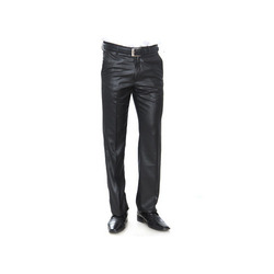 Cotton Mens Black Trouser